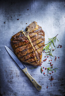 T-bone Steak, red pepper and rosemary - KSWF001687