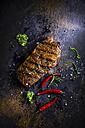 Rump steak, chili and rosemary - KSWF001693