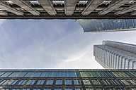 Germany, Frankfurt, facades of office buildingd seen from below - ZMF000439