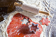 Christmas bakery with red dough - SARF002381