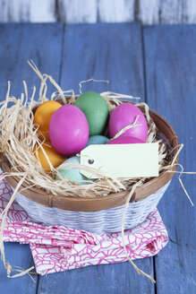 Colourful Easter basket with tag - SBDF002556