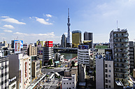 Japan, Tokyo, Cityscape with Tokyo Skytree - THA001513
