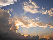 Italy, Tuscany, sunset with dramatic cloud formation - GSF001037