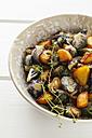 Brussel sprout potatoes in bowl, vegetarian - EVGF002543