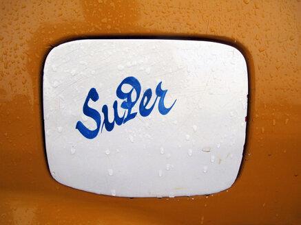 'Super' painted on filler cap - JMF000364