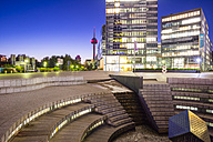 Germany, Cologne, Media park in the evening - WG000790