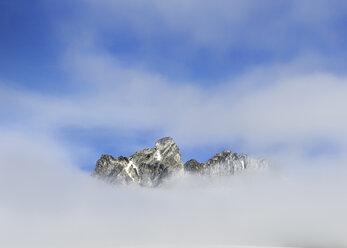 Greenland, Schweizerland, Mountaintop near Kulusuk, clouds - ALRF000244