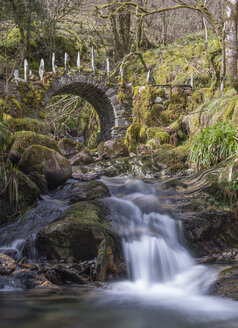 UK, Scotland, Scottish Highlands, Glen Creran, The Fairy Bridge - JBF000250