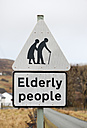 UK, Scotland, Isle of Skye, road sign Elderly people - JBF000259