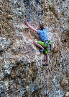 Malta, Gozo, San Blas, rock climber - ALRF000271