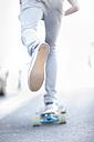 Close-up of a skateboarder - ZEF007612