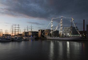Germany, Bremerhaven, sailing ship at the Sail 2015 - SJ000159