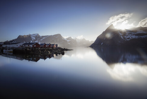 Norway, Lofoten, Hamnoy in the morning - STCF000121