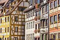 Germany, Bavaria, Nuremberg, half-timbered houses - WDF003490