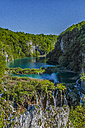 Croatia, Plitvice Lakes National Park, Waterfall and lake - LOMF000161