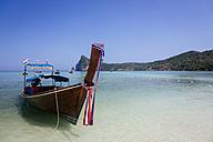 Thailand, Koh Phi Phi Island, Andaman Sea, long-tail boat - MAUF000171