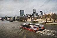 United Kingdom, England, London, tourboat on river Thames - KEB000304