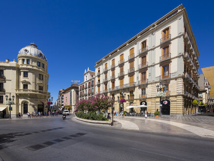 Spain, Granada, view to Art Nouveau hotel - AMF004599