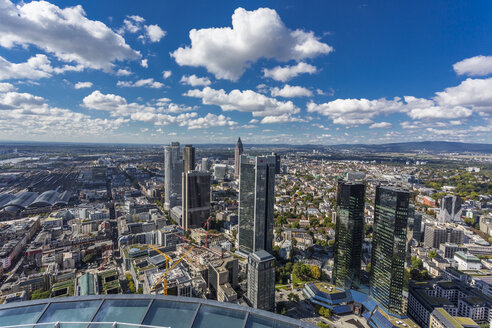 Germany, Frankfurt, view to the city with financial district from Maintower - MABF000358
