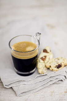 Cantuccini and glass of espresso - CZF000238