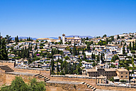 Spain, Andalucia, Granada, view from Alhambra Palace to Albayzin - AMF004620