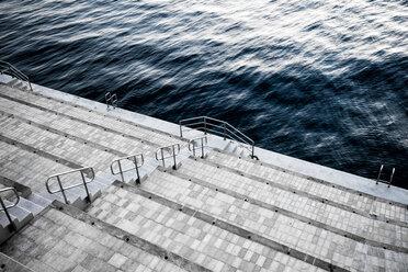 Monaco, La Condamine, Monte Carlo, Steps to the sea - DAWF000416