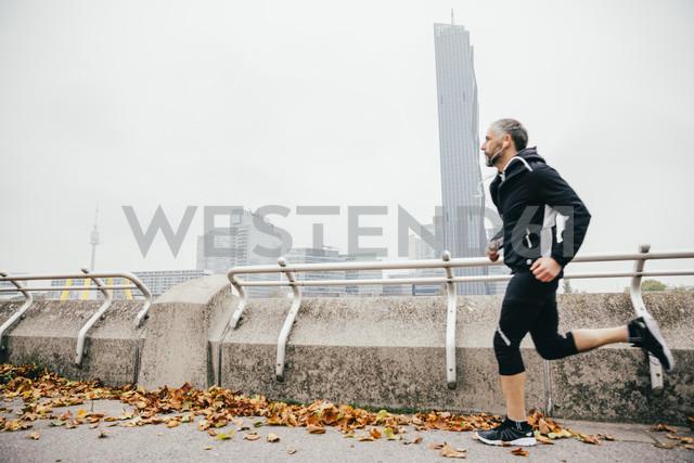 Austria, Vienna, athlete running on Donauinsel - AIF000153 - AustrianImages/Westend61