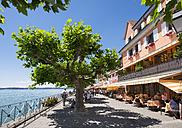 Germany, Baden-Wuerttemberg, Lake Constance, Meersburg, Waterside promenade, Restaurants - SIE006912