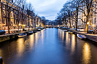 Netherlands, Holland, Amsterdam, Canal in the evening - DAWF000433