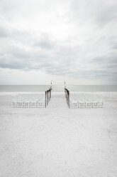 USA, Florida, Bonita Springs, Lovers Key, chairs for a wedding on beach - CHPF000176