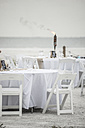 USA, Florida, Bonita Springs, Lovers Key, preparations for a wedding on beach - CHPF000179