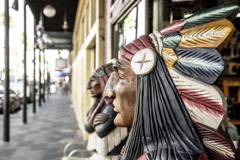 USA, Florida, Tampa, Ybor City, native American bust - CHP000182