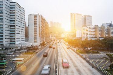 China, Hong Kong, Traffic in Central Hong Kong - HSIF000407