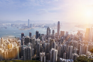 China, Hong Kong, Victoria Harbour and Kowloon - HSIF000410