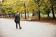 Austria, Vienna, man in Prater avenue - AIF000200