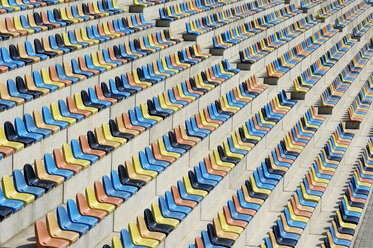 Colorful empty seats, grandstand - GUF000195