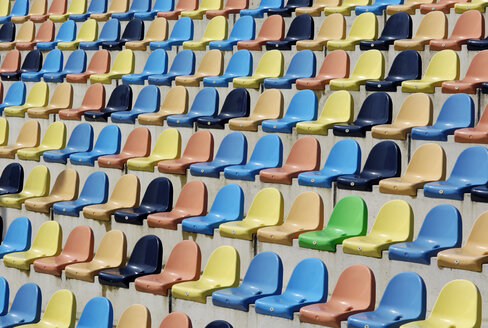 Colorful empty seats, grandstand - GUF000198