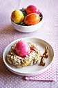 Easter Breakfast with coloured eggs - EVGF002660