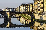 Italy, Tuscany, Florence, Arno River and Ponte Santa Trinita - THAF001550
