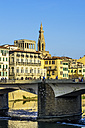 Italy, Tuscany, Florence, stone bridge above Arno River - THAF001553