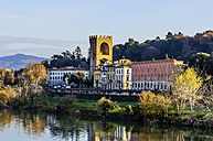 Italy, Tuscany, Florence, historic building at Arno River - THAF001556