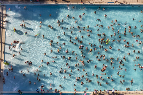 Germany, Landsberg am Lech, wave pool, aerial view - KLE000046