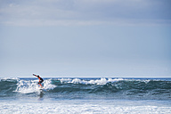 Spain, Tenerife, boy surfing - SIPF000091