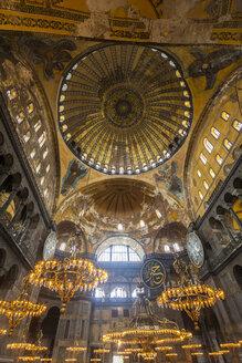 Turkey, Istanbul, indoor view Hagia Sophia - MDI000017