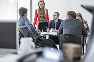 Business meeting in conference room - ZEF007972