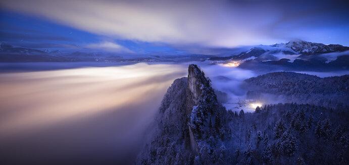 Austria, Salzburg State, Hallein, Berchtesgaden Alps, Small Barmstein, Panorama - STCF000150