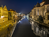 Belgium, Ghent, old town with St. Michaelis Church - AMF004714