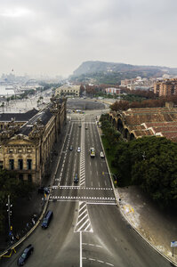 Spain, Barcelona, cityscape with street - THAF001557