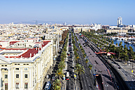 Spain, Barcelona, cityscape as seen from Columbus column - THAF001566