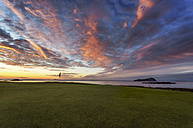 Scotland, North Berwick, West Golf Course at sunset - SMA000416